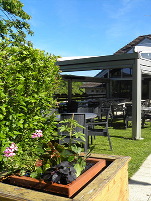 Terrasse de l'Auberge de Buffard - Restaurant Doubs